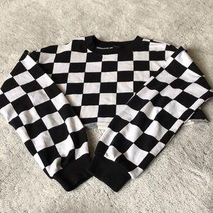 Checkered Crop Top